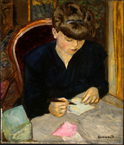 The Letter, oil on canvas painting by Pierre Bonnard, (1867-1947)