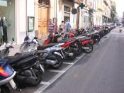 Parking lots for motor scooters in Sorrento