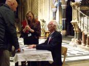 ROGER MCGOUGH IN DURHAM CATHEDRAL
