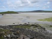 English: Rubha Leora Small promontory into the sandflats between Baleshare and North Uist.