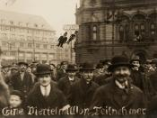 English: Photograph of a demonstration in Berlin, Germany against the Kapp-Lüttwitz putsch 1920. Nederlands: Photographie d'une manifestation contre le putsch de Kapp-Lüttwitz à Berlin (Allemagne) en 1920.
