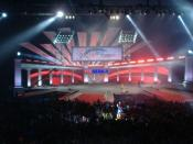 English: A view of the Stage at the Primerica Financial Services 2006 Convention.