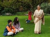 Ela Bhatt with her grandchildren