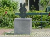 Miffy statue at her own square, Nijntje Pleintje, in Utrecht.