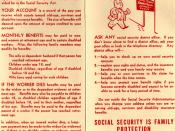 Brochure from 1961 with basic advice about Social Security cards (pages 1 and 4)
