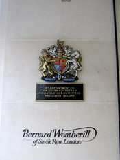 English: Bernard Weatherill on 5 Savile Row, London.