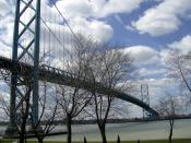 28% of all merchandise trade between the United States and Ontario crosses the Detroit River at the Ambassador Bridge.