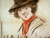 English: Drawing of Eliza Doolittle, a character from George Bernard Shaw's play Pygmalion, by George Luks (1867-1933). Charcoal and orange chalk on wove paper, 57.7 x 51.5 cm. (sheet).