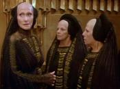 Reverend Mother Mohiam (Siân Phillips) and other Bene Gesserit, from David Lynch's Dune (1984)