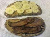 Bread, bacon, banana, butter (peanut)