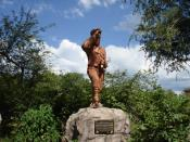 David Livingstone staue near Victoria Falls, Zambia