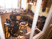 Antique shoemaking workshop