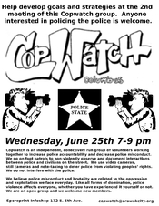 English: June 2008 Copwatch-Columbus Flyer