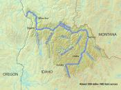 English: Map of the Salmon River watershed in Idaho
