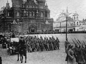 Bolshevik forces marching on Red Square Nolte claimed that the