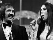 Photo of Sonny and Cher from the television special Entertainer of the Year.