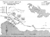 US Navy chart of the Battle of Tassafaronga based on accounts by both Japanese and US participants