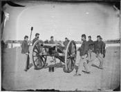 Gun squad at drill - NARA - 524863
