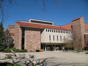 Norlin Library, rear entrance, on University of Colorado at Boulder campus