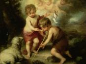 English: Infant Jesus and John the Baptist, Museo del Prado
