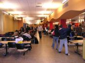 Cafeteria at Ecole Polytechnique de Montreal in 2007