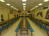 Calhan, Colorado high school cafeteria.