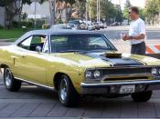 1970 Plymouth Road Runner. This car has the Hemi engine and the