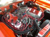 Polished and chromed 426 Hemi engine in a 1971 Hemi 'Cuda.