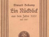 "Edward Bellamy: ""Looking Backward: 2000-1887""."