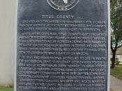 Titus County C.S.A., Mount Pleasant, Texas Historical Marker