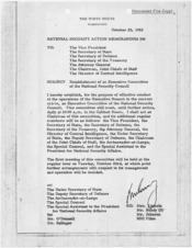 National Security Action Memorandum No. 196 Establishment of an Executive Committee of the National Security Council - NARA - 193581