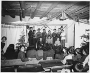 Taos County, New Mexico. Pupils of the Prado school rehearse their Christmas play. - NARA - 521990
