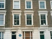 23 Fitzroy Road, London : The house where Sylvia Plath committed suicide. It was also W.B. Yeats's residence for a while.