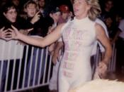 English: Alundra Blayze (real name Debra Miceli) at a WWF event in 1995