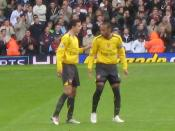 Robin van Persie with Thierry Henry