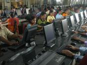 English: Students at the School of Computing Sciences, Vels University