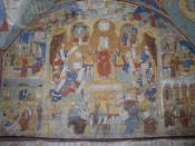 frescoes in the St John the Baptist church in Yaroslavl, Russia
