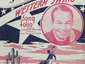 Spade Cooley's 1945 song folio, the first to identify big Western dance band music as Western swing