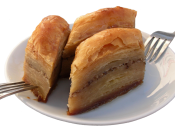 80-ply dough baklava (which is usually 40-ply), speciality of Beypazarı district of Ankara,Turkey