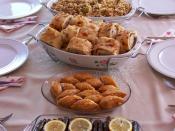 Dolma, Baklava, Gözleme, Pilav, Fincan-böreği, Sarma (Grape vine leaves), Borek