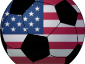 Soccerball with USA flag