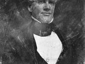 English: Horace Mann, head-and-shoulders portrait, three-quarters to right. Whig and Free Soil Congressman from Massachusetts, 1848-1853; President of Antioch College.