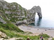Durdle Door natural arch near Lulworth Cove