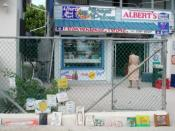 Caye Caulker convenience store. Albert's Mini Mart