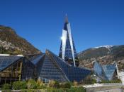 English: Caldea, a thermal spa and wellness resort in Andorra la Vella, Andorra Français : Centre thermoludique de Caldea en principauté d'Andorre