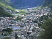 English: View of Andorra la Vella and Escaldes-Engordany, Andorra Català: Vista de les poblacions d'Andorra la Vella i Escaldes-Engordany, Andorra