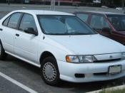 1999 Nissan Sentra photographed in College Park, Maryland, USA. Category:Nissan Sentra B14