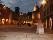 Reggio Emilia - Duomo visto dal sagrato della basilica di S. Prospero