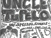 An early Uncle Tupelo poster that includes an image of the anthropomorphism by Chuck Wagner.