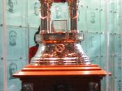 The Vezina trophy, which Vanbiesbrouck won in 1986
